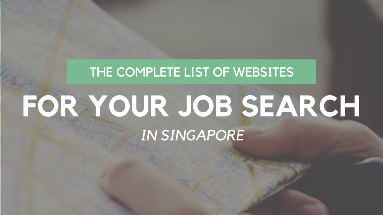 The Complete List of Websites for Your Job Search in Singapore